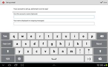 Samsung Galaxy Tab 2 10.1 - E-mail - Manual configuration - Step 15