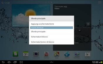 Samsung Galaxy Tab 2 10.1 - Operazioni iniziali - Installazione di widget e applicazioni nella schermata iniziale - Fase 3