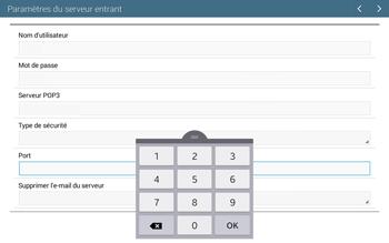 Samsung T535 Galaxy Tab 4 10.1 - E-mail - configuration manuelle - Étape 10