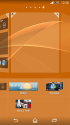 Sony Xperia Z3 Compact - Startanleitung - Installieren von Widgets und Apps auf der Startseite - Schritt 5