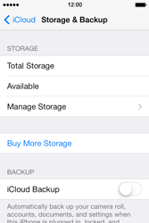Apple iPhone 4S iOS 7 - Applications - configuring the Apple iCloud Service - Step 10