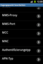 Samsung Galaxy Ace - MMS - Manuelle Konfiguration - 1 / 1