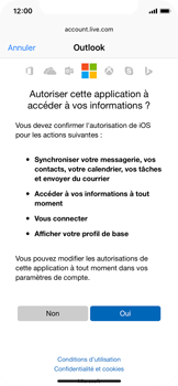 Apple iPhone X - E-mail - 032c. Email wizard - Outlook - Étape 8