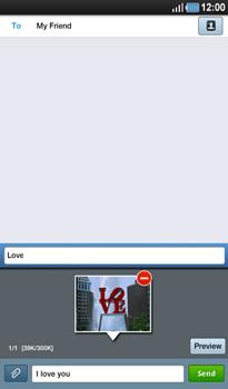 Samsung P1000 Galaxy Tab - MMS - Sending pictures - Step 10