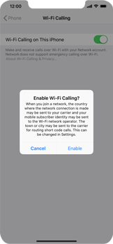 Apple iPhone XR - WiFi - Enable WiFi Calling - Step 7