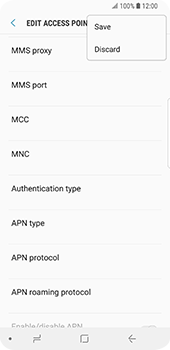 Samsung Galaxy S9 - MMS - Manual configuration - Step 15