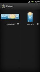 Sony Xperia U - Operazioni iniziali - Installazione di widget e applicazioni nella schermata iniziale - Fase 6