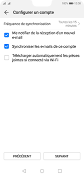 Huawei P20 Android Pie - E-mail - 032b. Email wizard - Yahoo - Étape 7