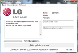 LG KP500 Cookie - Software - Update - Schritt 2