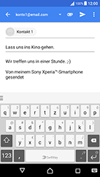 Sony Xperia X Performance - E-Mail - E-Mail versenden - 0 / 0