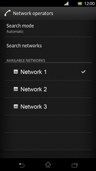 Sony Xperia T - Network - Manual network selection - Step 10