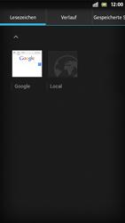 Sony Xperia S - Internet und Datenroaming - Verwenden des Internets - Schritt 10