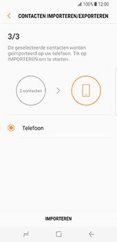 Samsung Galaxy S8 (G950) - Contacten en data - Contacten kopiëren van SIM naar toestel - Stap 13