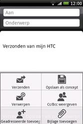 HTC A6262 Hero - E-mail - E-mails verzenden - Stap 7