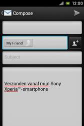 Sony C1505 Xperia E - E-mail - Sending emails - Step 8