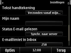 Nokia E6-00 - e-mail - handmatig instellen - stap 15