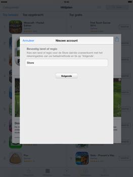 Apple iPad 4th generation (Retina) met iOS 7 - Applicaties - Account aanmaken - Stap 8