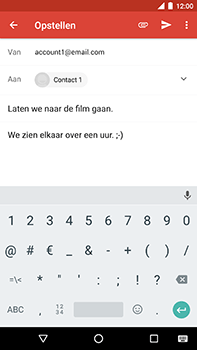 Android One GM5Plus DS - E-mail - hoe te versturen - Stap 9