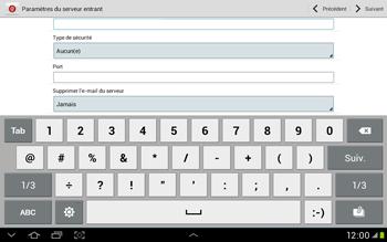 Samsung Galaxy Tab 2 10.1 - E-mail - Configuration manuelle - Étape 9