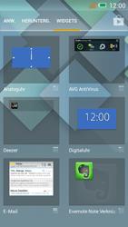 Alcatel One Touch Idol Mini - Startanleitung - Installieren von Widgets und Apps auf der Startseite - Schritt 4