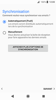 Sony Xperia XA2 Ultra - E-mail - Configuration manuelle (outlook) - Étape 14