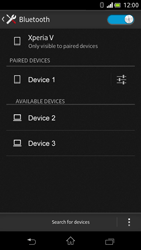 Sony Xperia V - Bluetooth - Connecting devices - Step 8