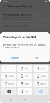 Samsung Galaxy S9 Plus - Android Pie - Prise en main - Comment activer un code SIM - Étape 8