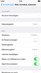 Apple iPhone 6 iOS 8 - E-Mail - Manuelle Konfiguration - Schritt 4