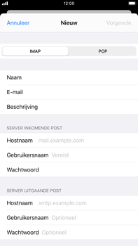 Apple iPhone 6s Plus - iOS 13 - E-mail - e-mail instellen: IMAP (aanbevolen) - Stap 11