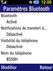 Samsung B550H Xcover 550 - Bluetooth - connexion Bluetooth - Étape 9