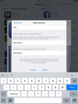 Apple iPad Pro 9.7 inch - Apps - Konto anlegen und einrichten - 26 / 35