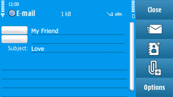Nokia N97 - E-mail - Sending emails - Step 9