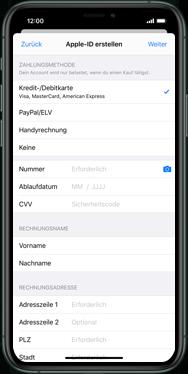 Apple iPhone XS - iOS 13 - Apps - Einrichten des App Stores - Schritt 16