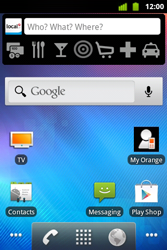 Alcatel OT-983 - Getting started - Installing widgets and applications on your start screen - Step 1
