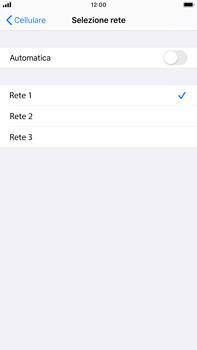 Apple iPhone 7 Plus - iOS 13 - Rete - Selezione manuale della rete - Fase 7