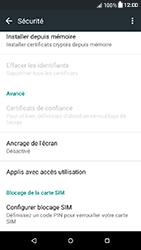 HTC Desire 650 - Sécuriser votre mobile - Personnaliser le code PIN de votre carte SIM - Étape 5