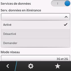 BlackBerry Q10 - Internet et roaming de données - Désactivation du roaming de données - Étape 7