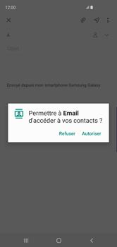 Samsung Galaxy S10 - E-mails - Envoyer un e-mail - Étape 6