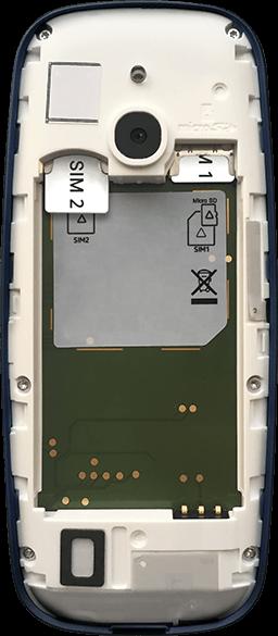 Nokia 3310 - Premiers pas - Insérer la carte SIM - Étape 5