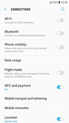 Samsung Galaxy S7 - Android N - Internet and data roaming - How to check if data-connectivity is enabled - Step 5