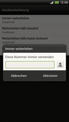 HTC S720e One X - Anrufe - Rufumleitungen setzen und löschen - Schritt 7