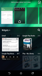 HTC One M8 - Getting started - Installing widgets and applications on your start screen - Step 7