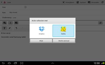 Samsung N8020 Galaxy Note 10-1 LTE - E-mail - Hoe te versturen - Stap 13