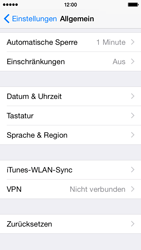 Apple iPhone 5s iOS 8 - Gerät - Zurücksetzen auf die Werkseinstellungen - Schritt 5