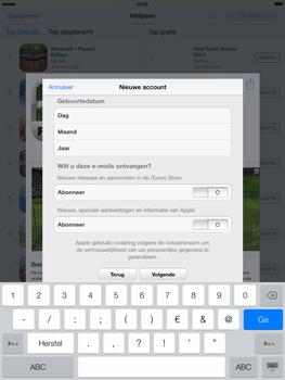 Apple iPad 4th generation (Retina) met iOS 7 - Applicaties - Account aanmaken - Stap 17