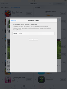 Apple iPad mini iOS 7 - Applicazioni - configurazione del negozio applicazioni - Fase 8