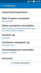 Samsung Galaxy Grand Prime VE (SM-G531F) - Contacten en data - Contacten kopiëren van toestel naar SIM - Stap 12