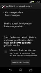 Sony Xperia L - Fehlerbehebung - Handy zurücksetzen - 8 / 11