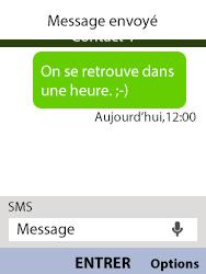 Alcatel 3088X - Contact, Appels, SMS/MMS - Envoyer un SMS - Étape 10
