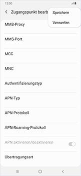 Samsung Galaxy A50 - Internet - Manuelle Konfiguration - Schritt 17